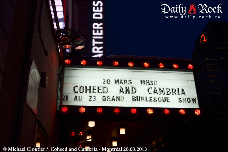Coheed and Cambria @ Club Soda, 20.03.2013